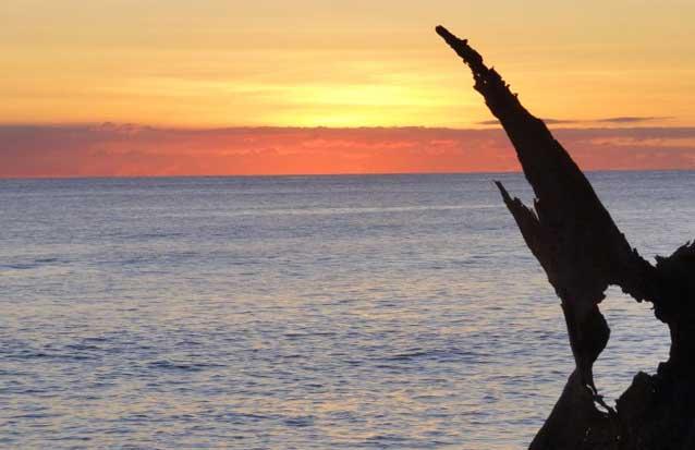 ile maurice : un ocucher de soleil depuis le catamran