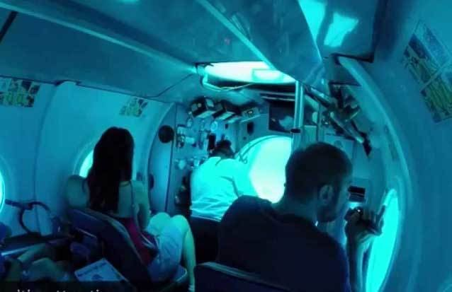 excursion : voyage ne sous marin à l'ile maurice