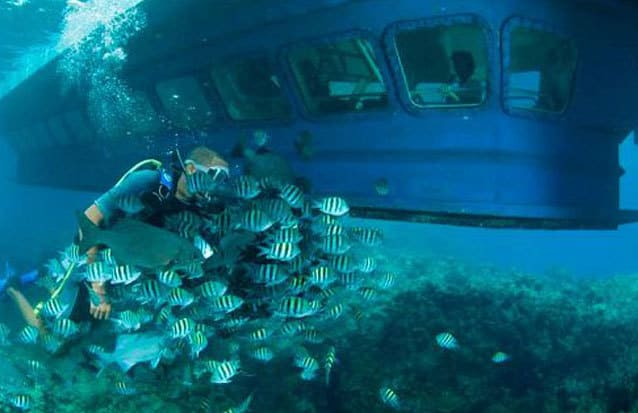 Bateau submersible Île Maurice